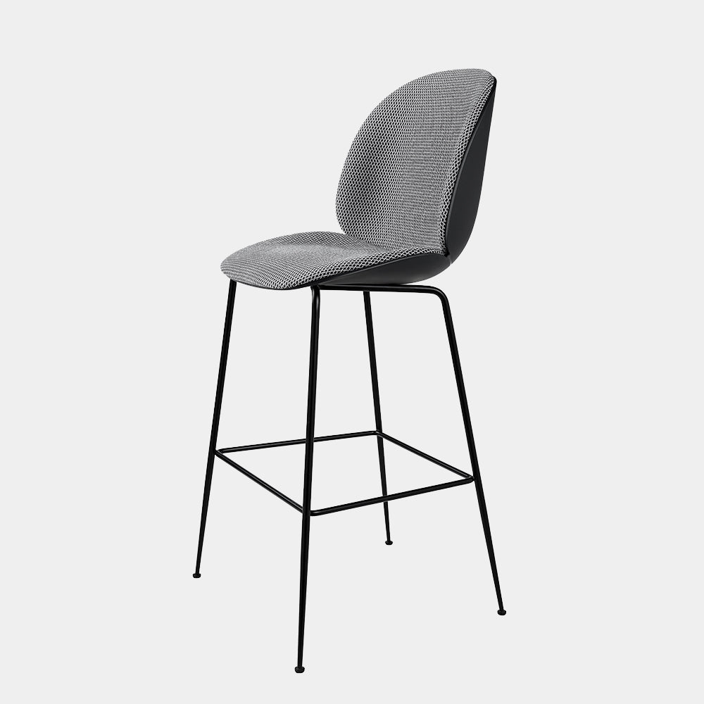 Beetle Chair Stool, counter height, front upholstered