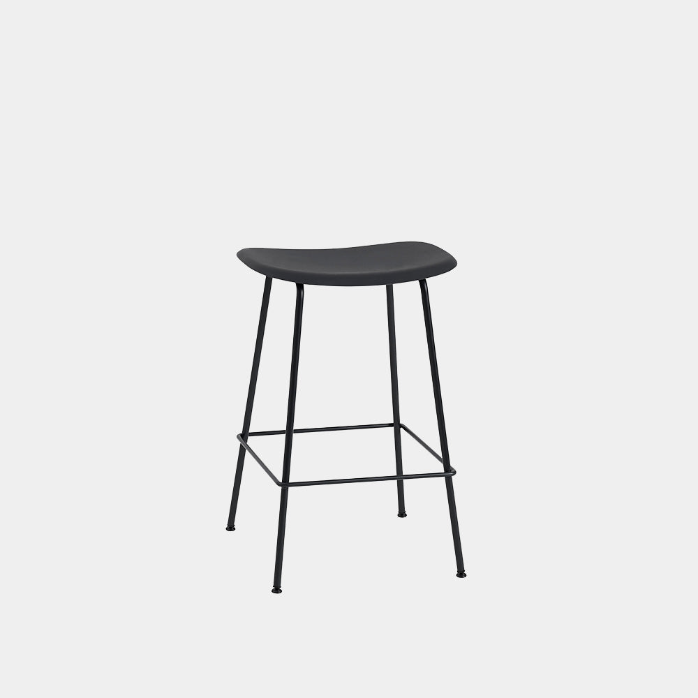 Fiber Bar Stool with Tube Base, backless