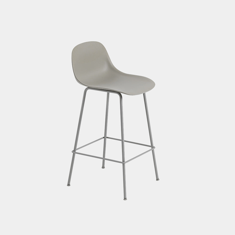 Fiber Bar Stool with Tube Base