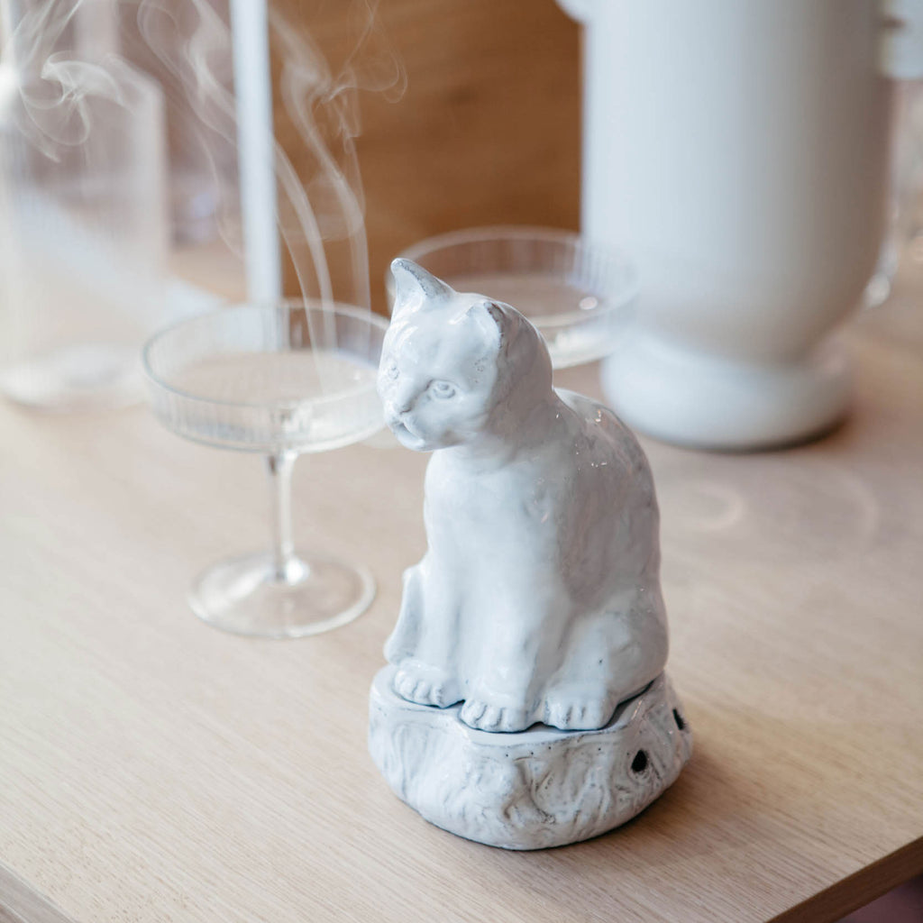 Setsuko Cat Incense Holder