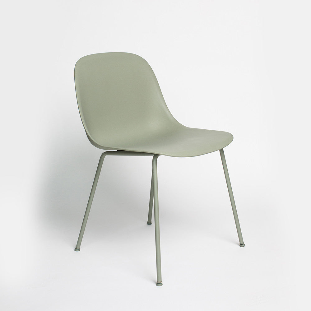 Fiber Side Chair with Tube Base
