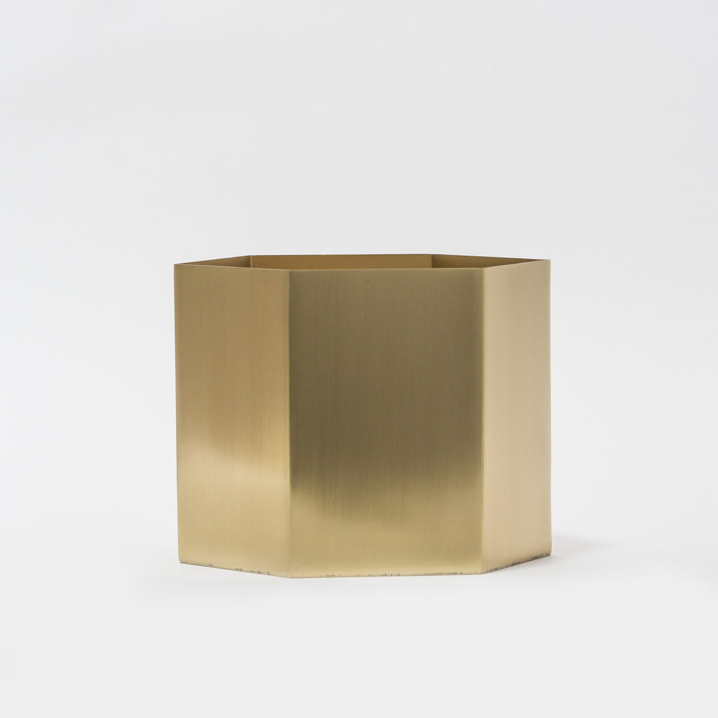 Brass Hexagon Pot