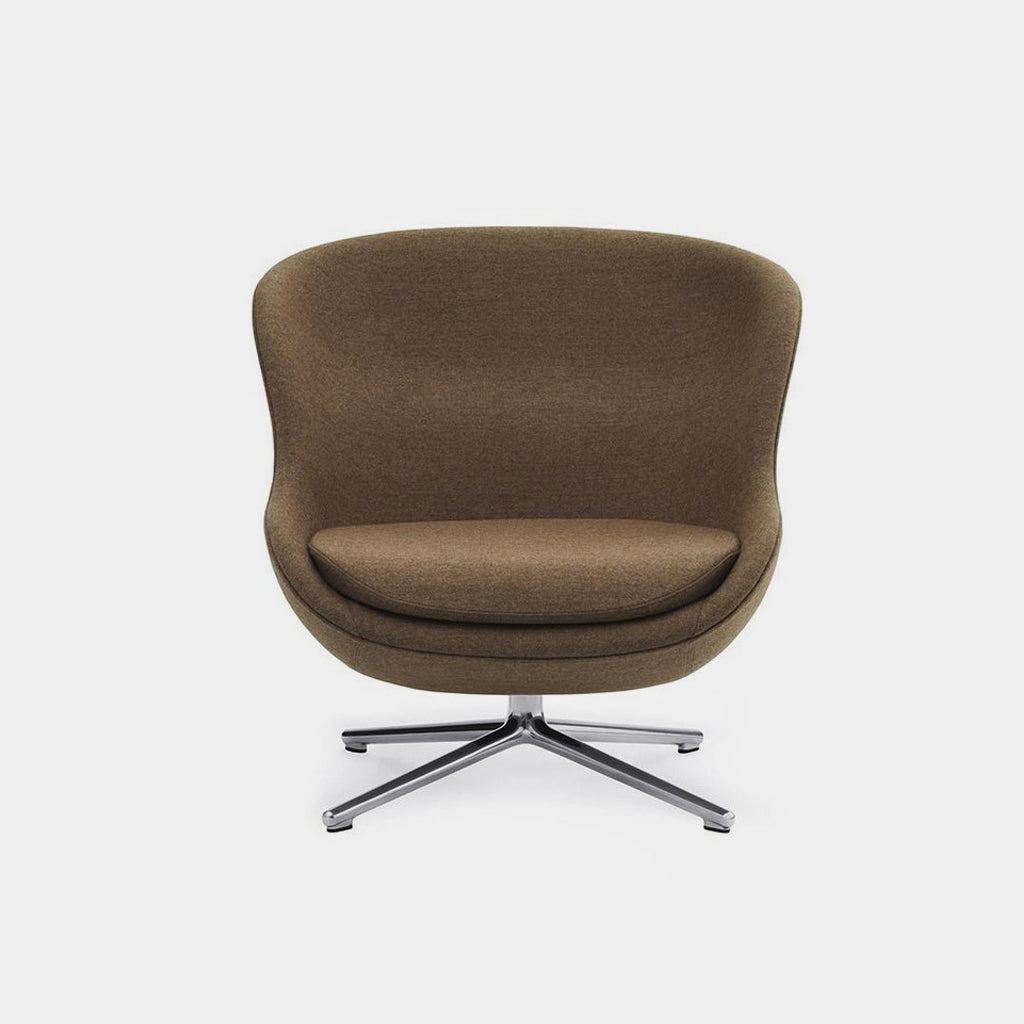 Normann Copenhagen Hyg Chair, low, brown, swivel base