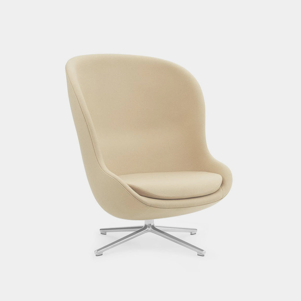 Normann Copenhagen Hyg Chair, high, ivory, swivel base