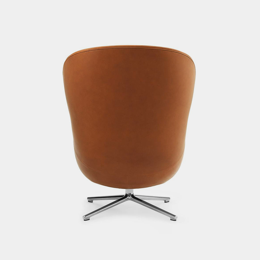 Normann Copenhagen Hyg Chair, high, tan, swivel base