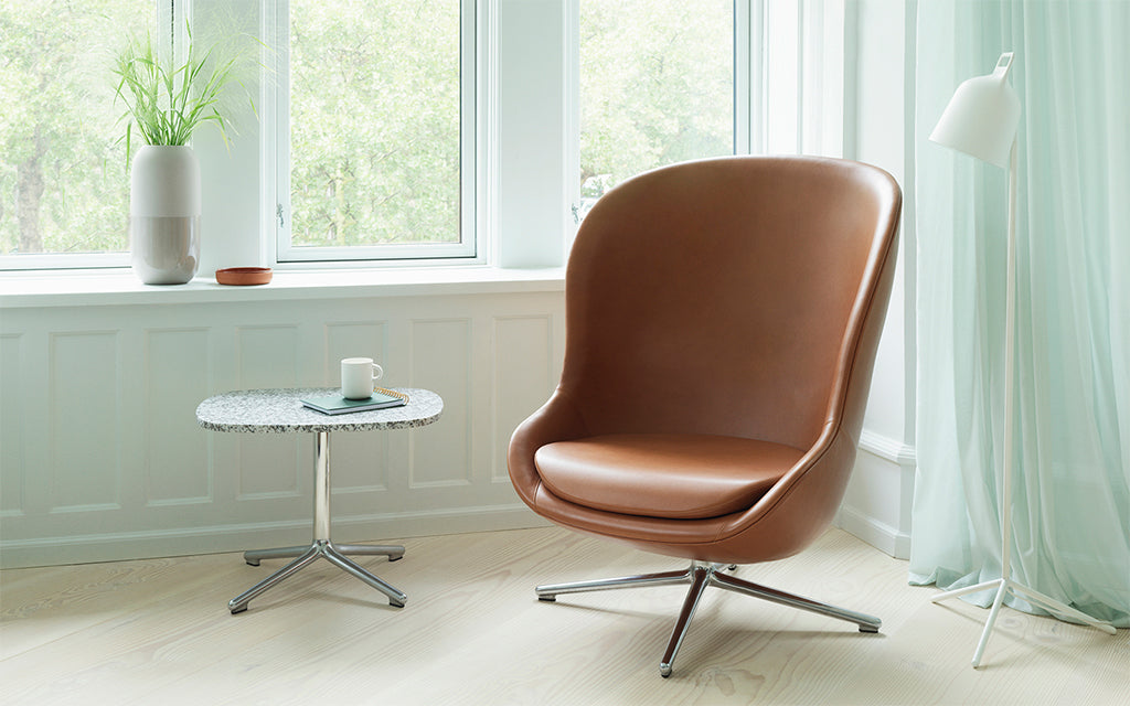 Normann Copenhagen Hyg Chair, swivel base for home at Nannie Inez