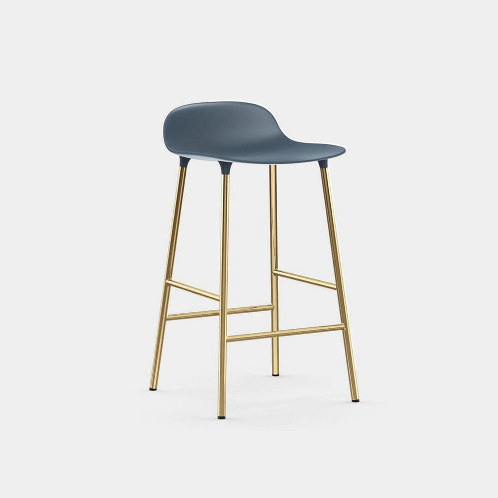 Form Stool, brass legs