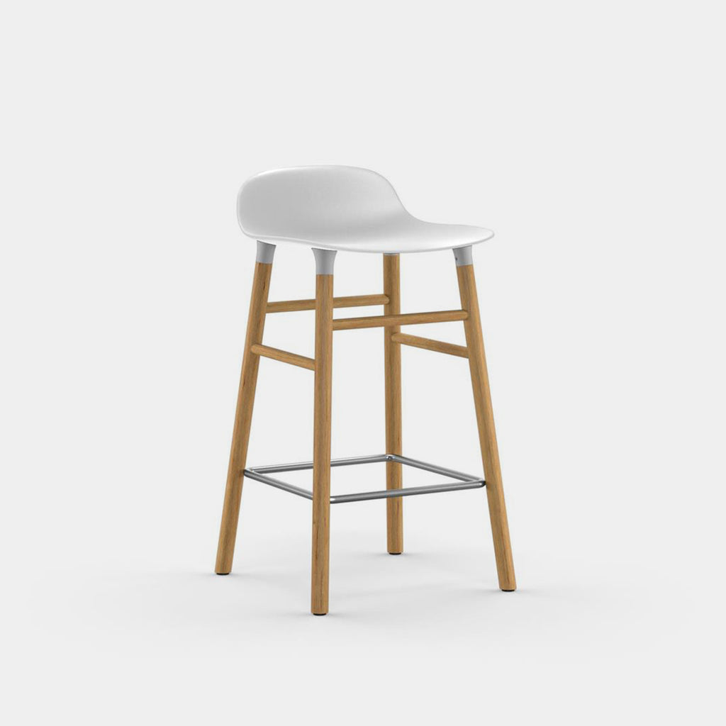 Form Stool, wood legs