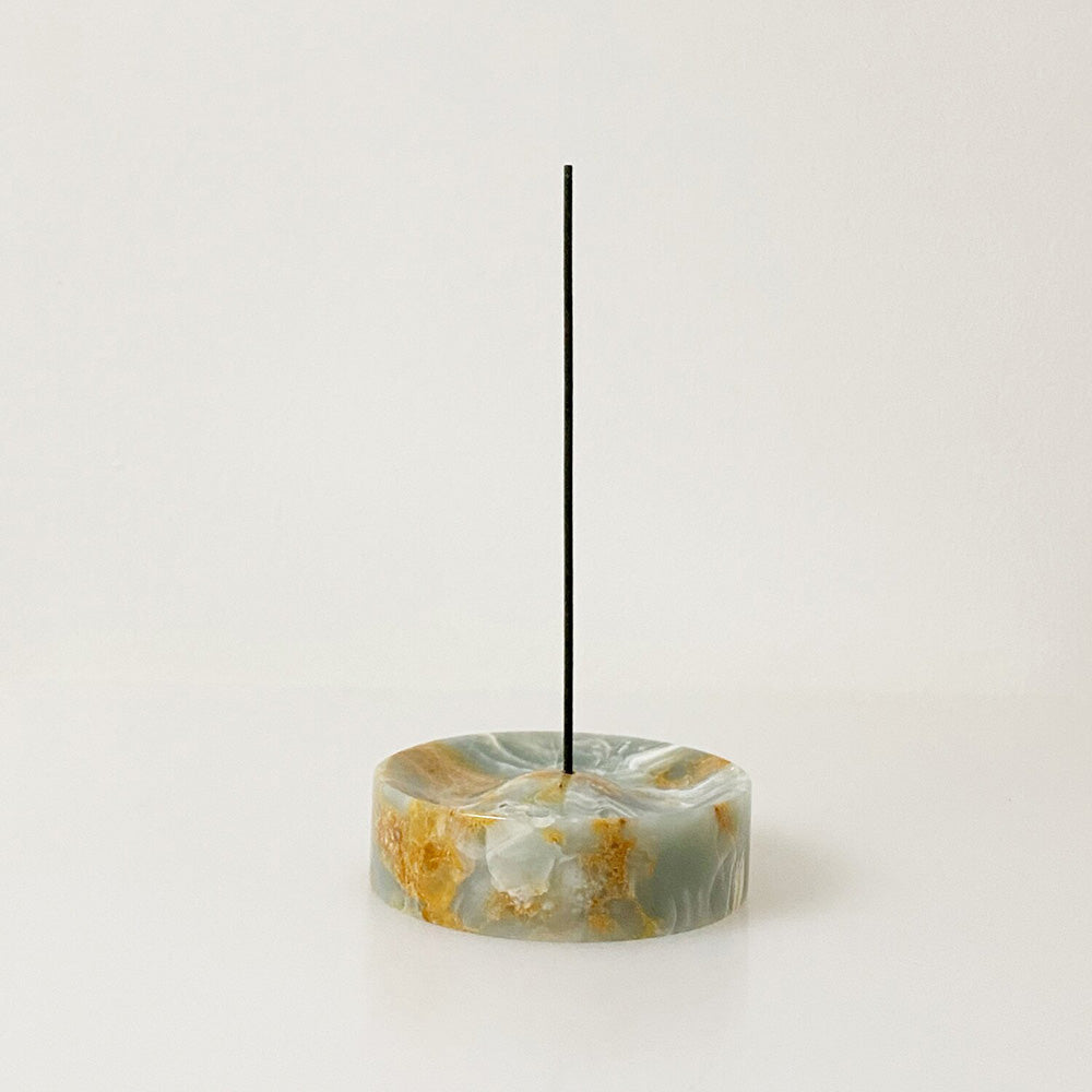 Blue Marble Incense Holder