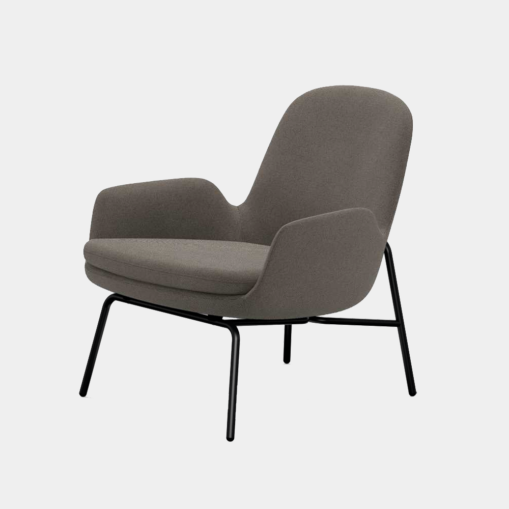 Era Lounge Chair, low, metal legs