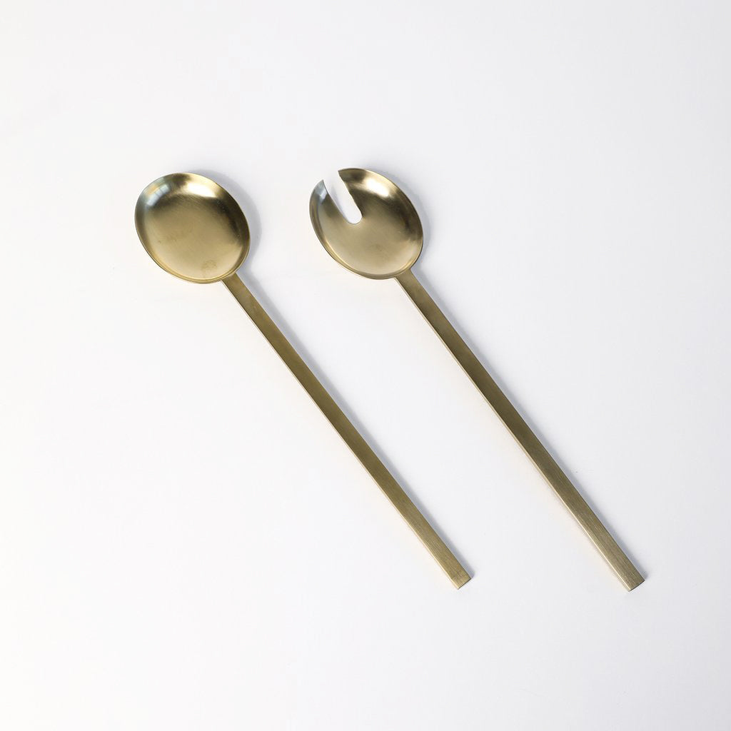 Fein Brass Salad Servers