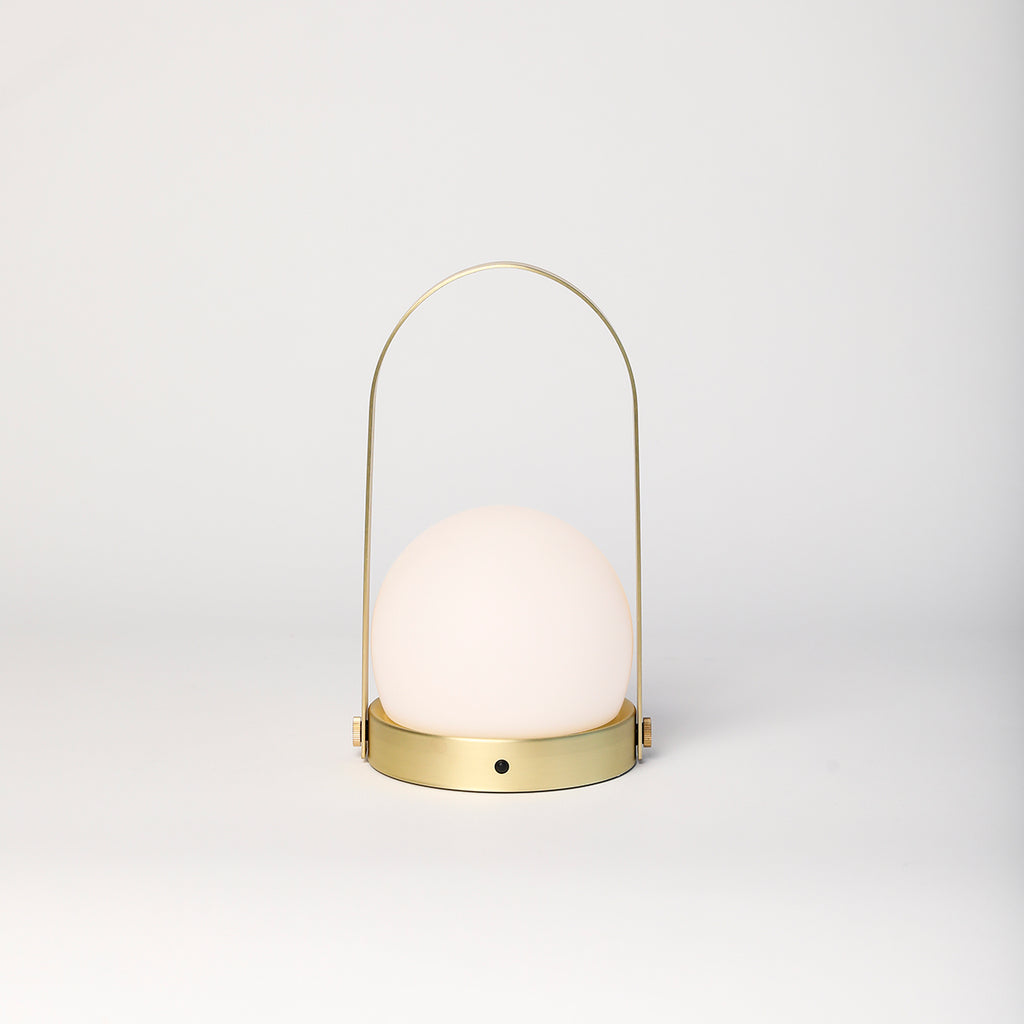 Carrie Portable LED Lamp, brushed brass