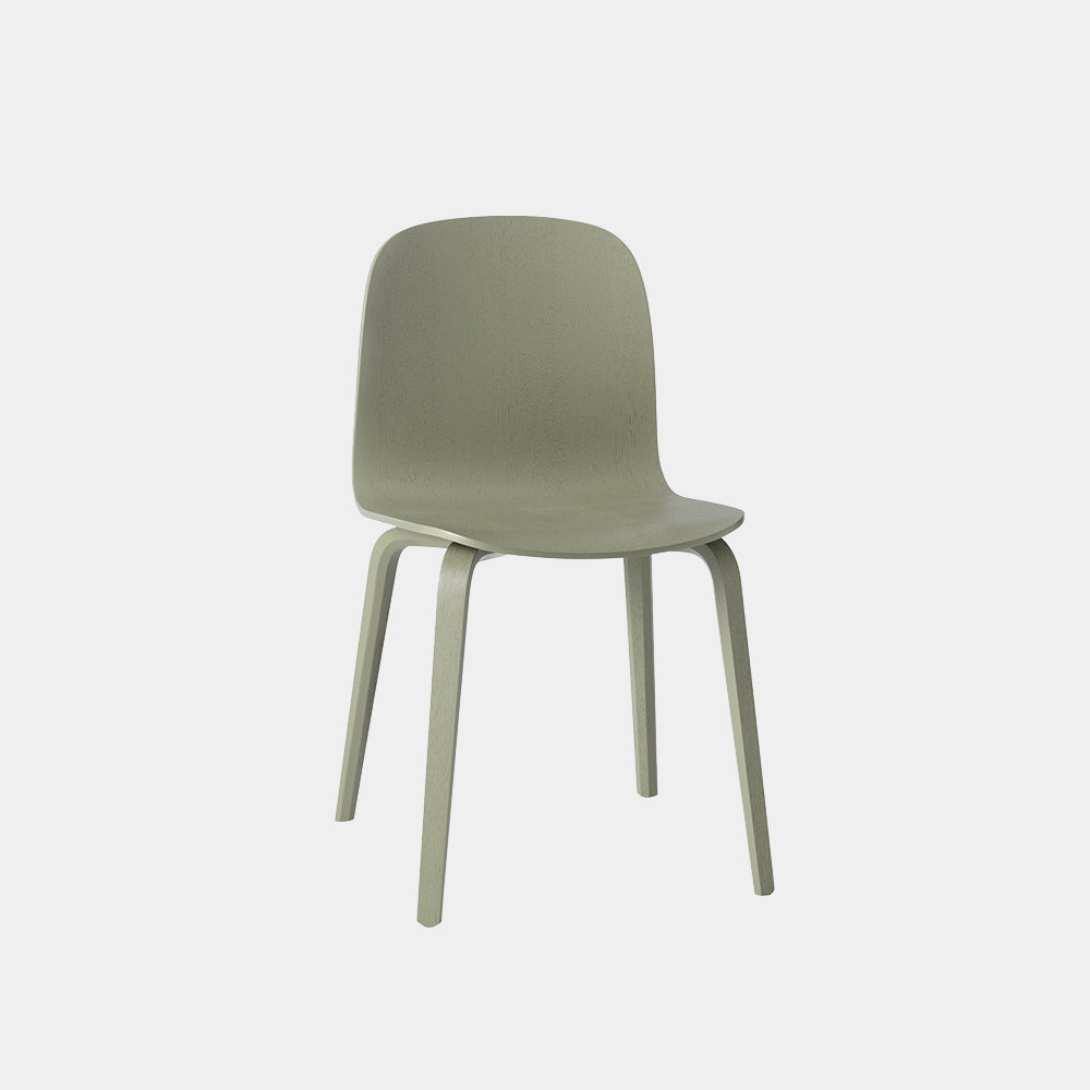 Visu Chair with Wood Base