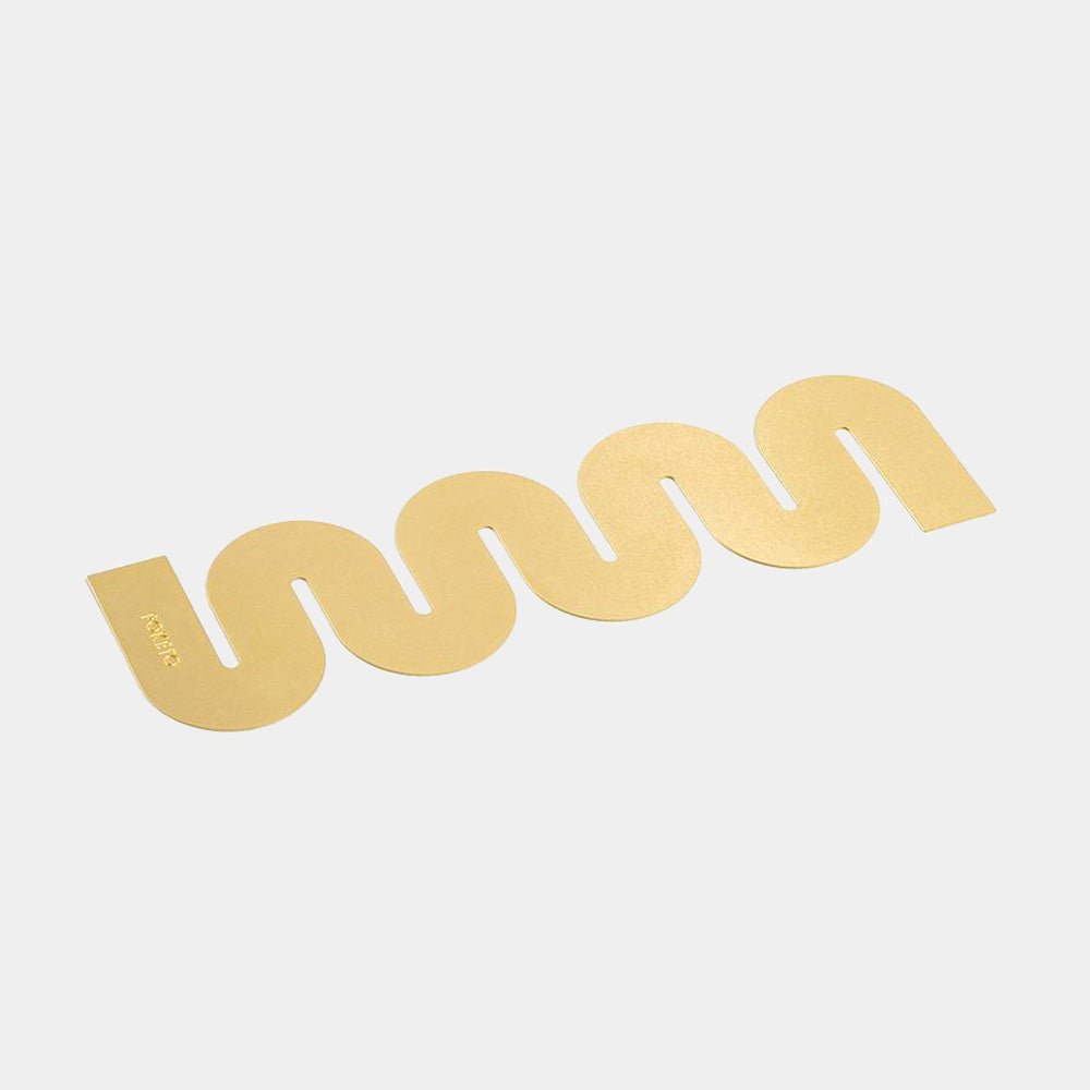 Brass Bookmark, wave