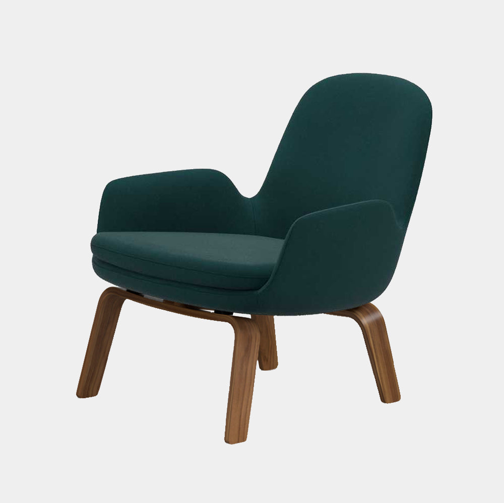 Era Lounge Chair, low, wood legs
