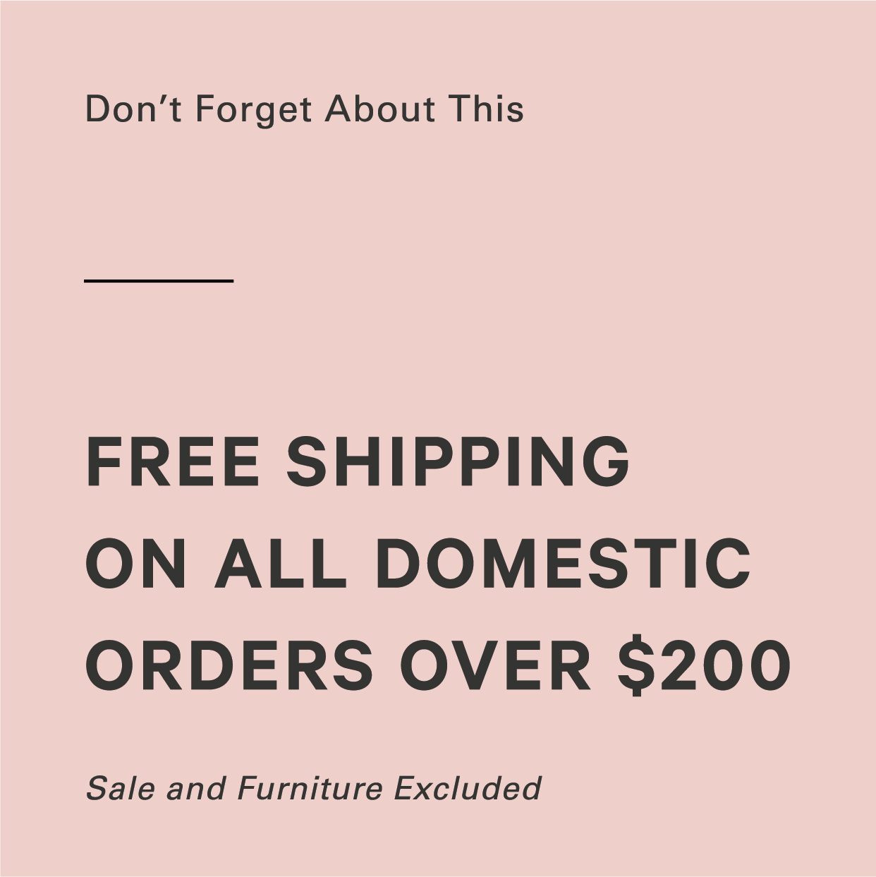 Free Shipping on all orders over $100