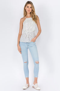 Fanco - Polka Dot Top