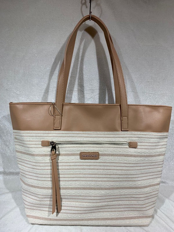 Purse Plus Striped Handbag