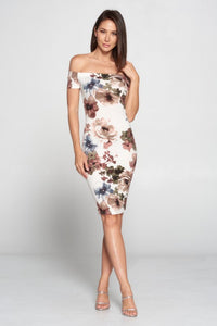 Lovely Day - Floral Off Shoulder Dress