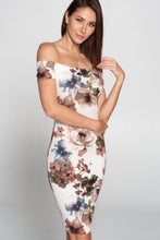 Load image into Gallery viewer, Lovely Day - Floral Off Shoulder Dress