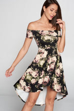 Load image into Gallery viewer, Lovely Day - Floral Off Shoulder HighLow Dress