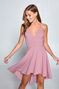 Lovely Day - Spaghetti Strap High Low Dress
