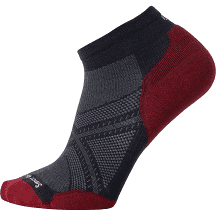 Smartwool PhD Run Navy/Tibetan Red Socks