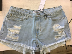 O2 Denim - Distressed Jean Shorts
