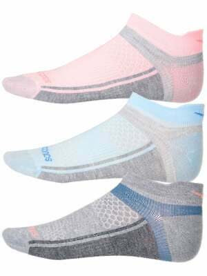 Saucony Inferno Ultralight No Show Tab Socks Pink/Grey Assorted