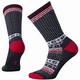 Smartwool Cozy Cabin Crew Socks Women Charcoal