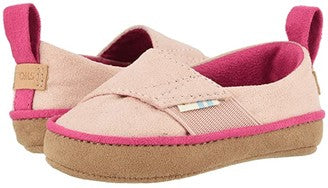 Toms Tiny Pinto Pink Microsuede