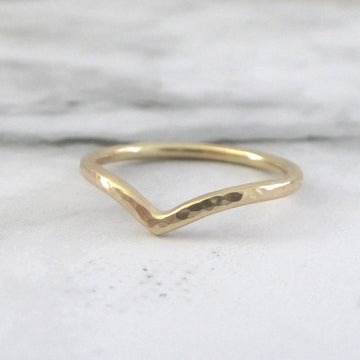 Holly Wishbone 9ct Gold - 1.5mm - Yellow Gold