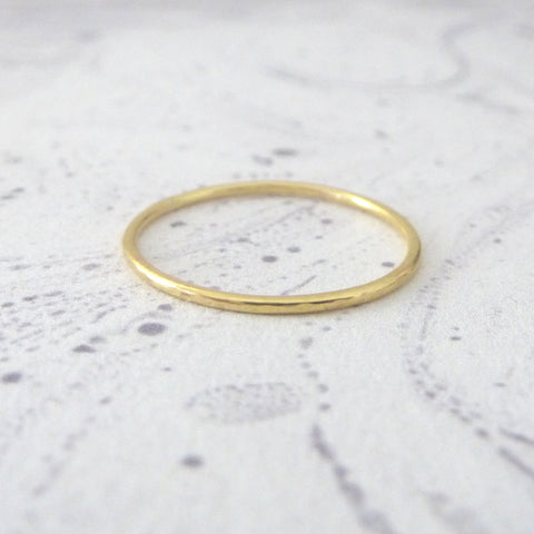 Skinny Midi Ring - 18ct Red Gold