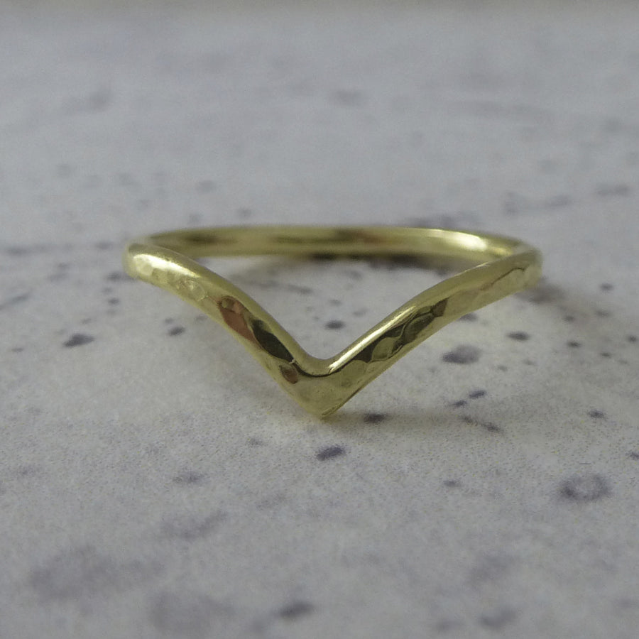 Holly Wishbone 18ct Gold - 1.5mm - Rose Gold