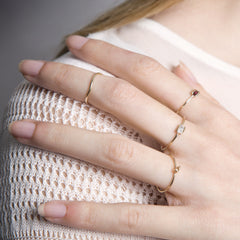 Skinny Midi Ring - 18ct Yellow Gold