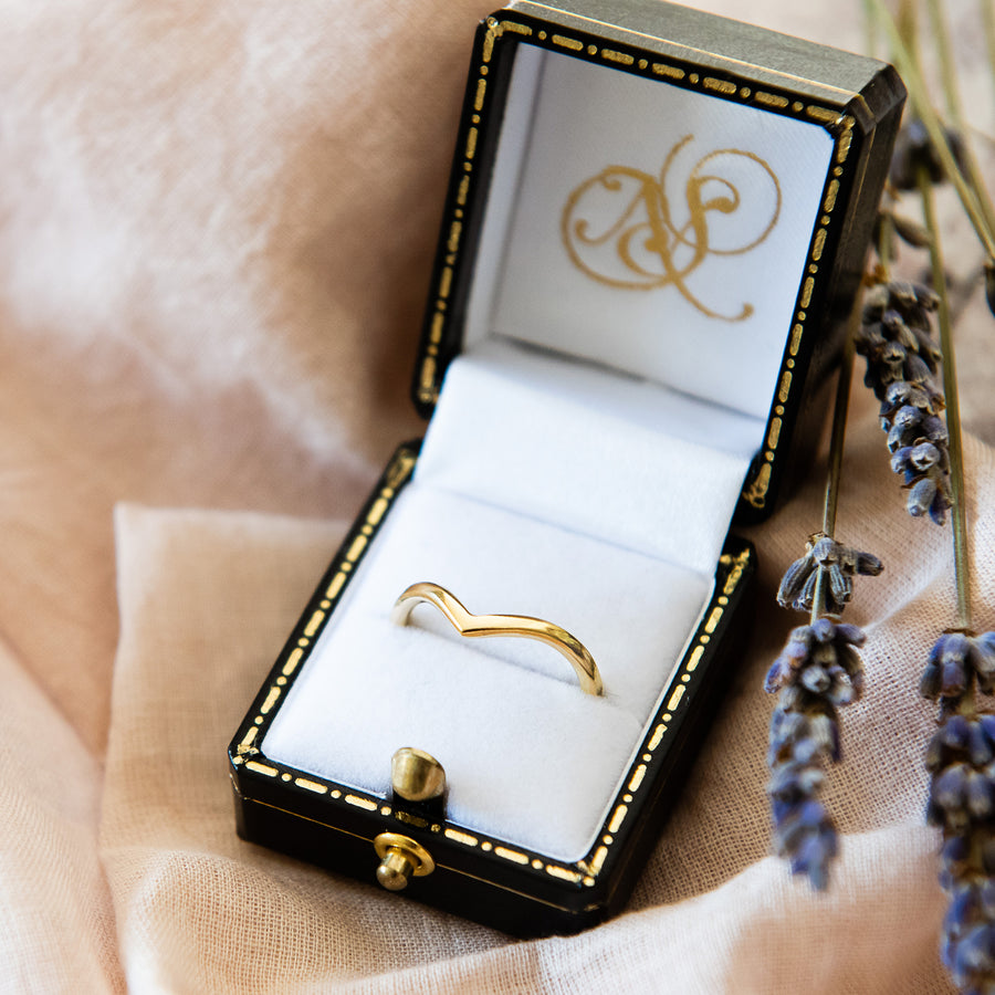 Holly Wishbone 18ct Gold - 2mm - Yellow Gold