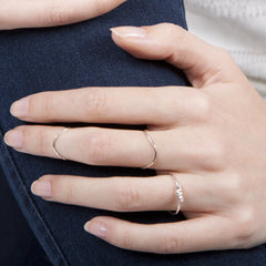 Rocking Wishbone Sterling Silver Midi Ring