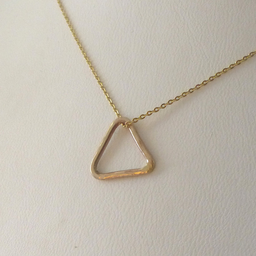 9ct Gold Triangle Necklace