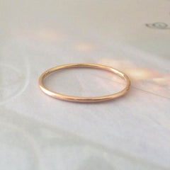 Skinny Midi Ring - 9ct Rose Gold