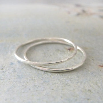 Skinny Midi Ring - 9ct White Gold