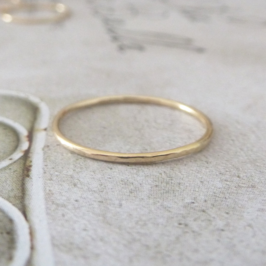 Skinny Midi Ring - 9ct Yellow Gold