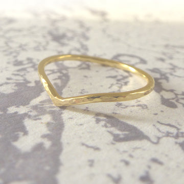 Holly Wishbone 18ct Gold - 1.2mm - Yellow Gold