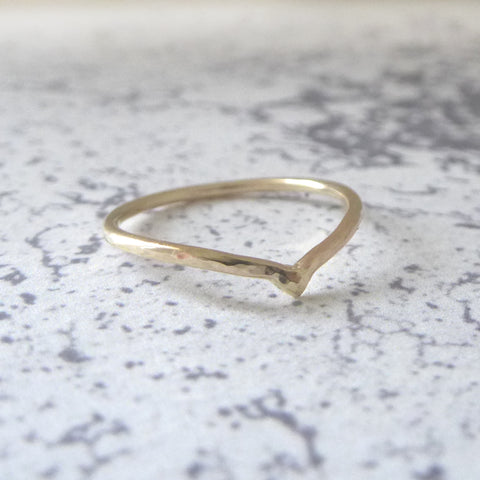 Holly Wishbone 9ct Gold - 1.2mm - Yellow Gold
