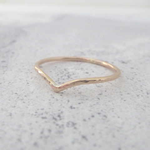 Holly Wishbone 9ct Gold - 1.2mm - Rose Gold