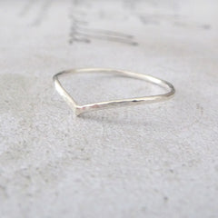 Holly Wishbone Sterling Silver Midi Ring