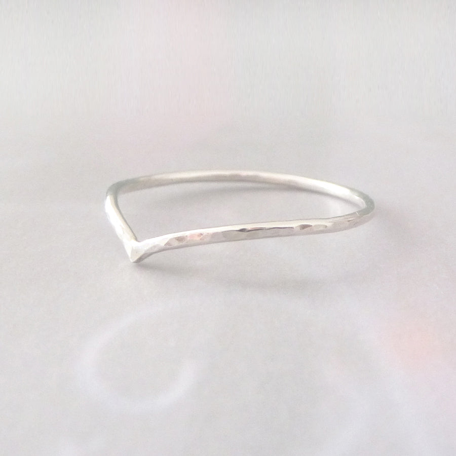 Skinny Holly Wishbone Sterling Silver Midi Ring