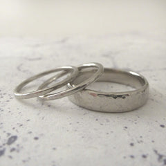 Slim Band Ring in Palladium - 5mm - Hammered or Smooth