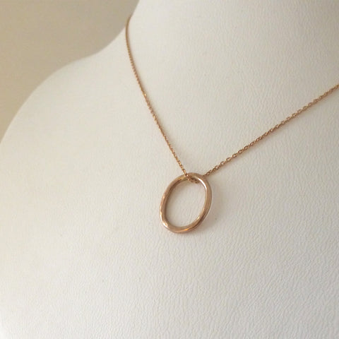9ct Gold Oval Necklace