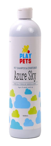 Play Pets Azure Dog Shampoo and Conditioner 1L
