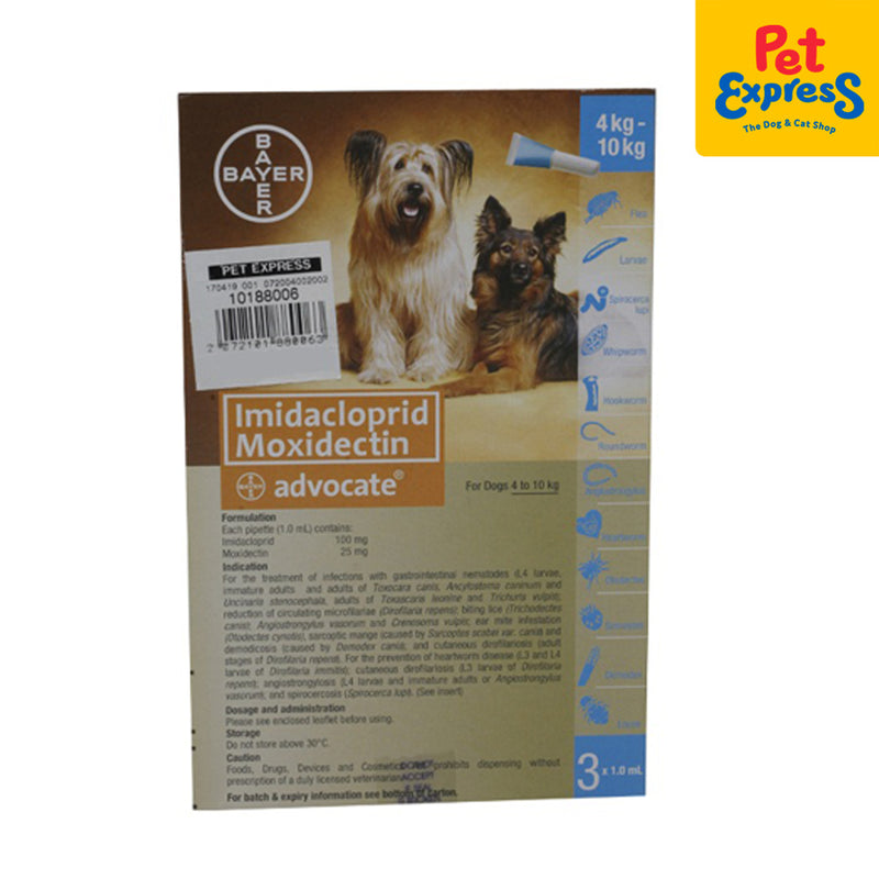 Bayer Advocate Spot On For Dogs 5-10kg for Medium Breed (3 pipet)